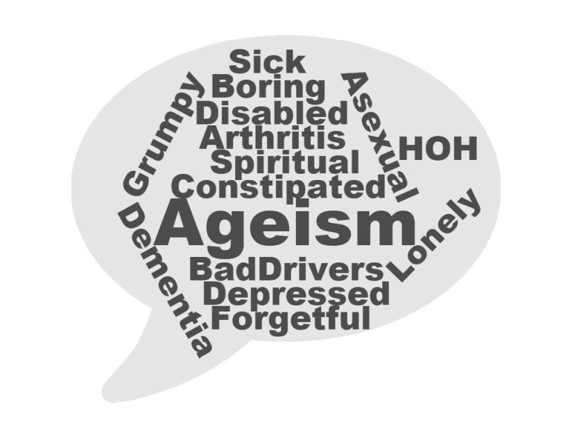 Word Cloud with various ageism terms